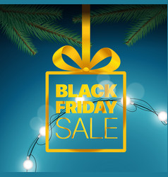 black friday sale concept black friday sale gold vector image