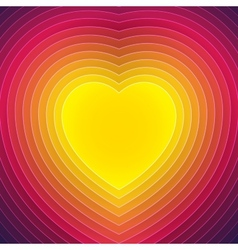 Colorful paper layers heart shape vector image vector image