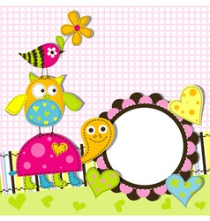 Decorative Animals Card vector image vector image