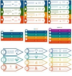 Infographics cyclic processes 9 templates vector image vector image