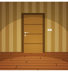 Room With Door - Yellow vector image vector image