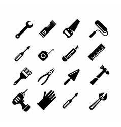 Tools icons set vector image