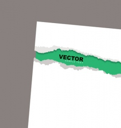 torn paper reveal min vector image vector image