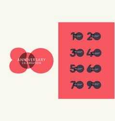 80 years anniversary celebration logo template vector