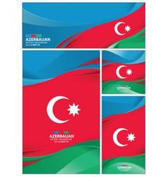 Abstract azerbaijan background vector
