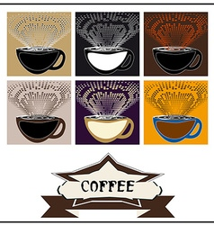 Abstract background coffee vector
