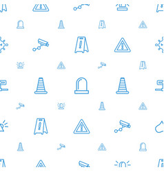 Attention icons pattern seamless white background vector