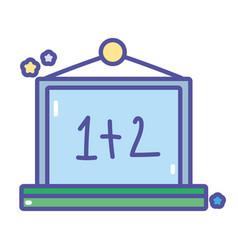 back to school hanging chalkboard mathematics task vector image