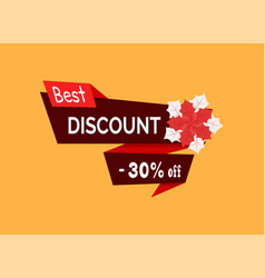 best discount 30 percent off red poinsettia vector image