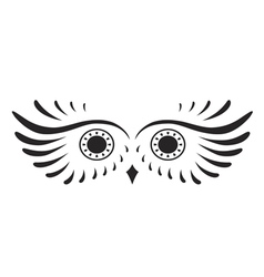 Black abstract silhouette of owl vector