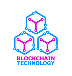 blockchain colorful logo element on white vector image