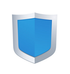 blue glossy shield vector image