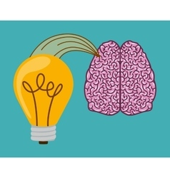 brain thinking design vector image