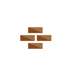 brick wall icon vector image