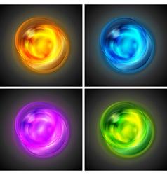Bright glowing circles vector image