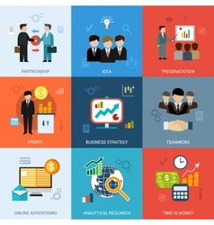 Business Concepts Set vector