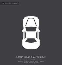 Car top premium icon vector