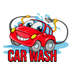car wash cartoon symbol vector image