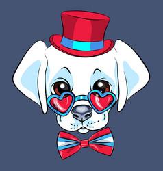 cartoon puppy labrador vector image