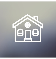 Church building thin line icon vector image