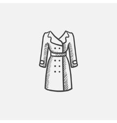 Coat sketch icon vector
