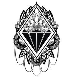 Diamond tattoo vector