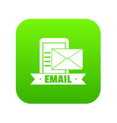 email icon green vector image