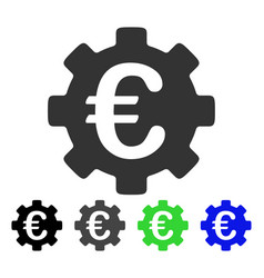 euro development gear flat icon vector image