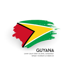 flag guyana brush stroke design isolated vector image