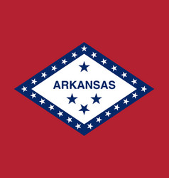 flag of the usa state of arkansas vector image