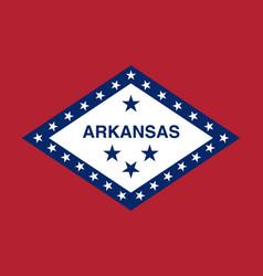 Flag usa state arkansas vector