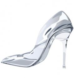 glass slipper vector image