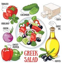 Greek salad vector image