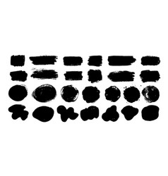 grunge hand drawn paint dubs banners vector image