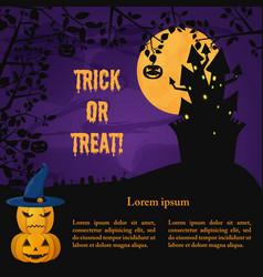 halloween party dark template vector image