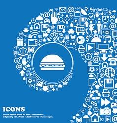 Hamburger icon sign Nice set of beautiful icons vector