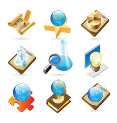 Icon concepts for science vector image