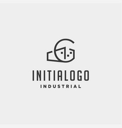 Initial letter g real estate logo design vector