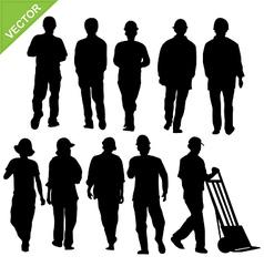 Labour silhouette vector
