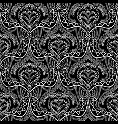 lace ethnic style seamless pattern black and vector image