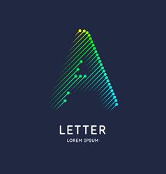 Letter a latin alphabet display vector