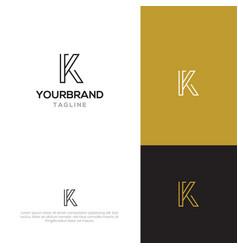 letter k logo template vector image