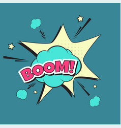 Lettering boom bomb vector