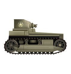 light tank t1 cunningham - realistic vector image