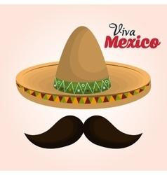mexican classic sombrero icon vector image