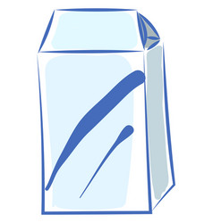 milk in white package on white background vector image