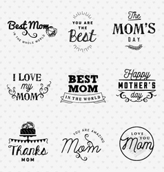 Mom Greeting Card Design Elements vector image