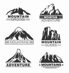 Mountain and outdoor adventure logo set vector