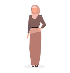 Muslim woman flat islamic elegant lady in hijab vector