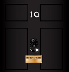 Number ten downing street vector